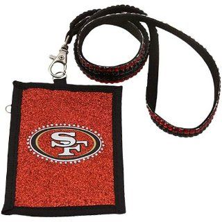 NFL San Francisco 49ers Beaded Lanyard with Nylon Wallet