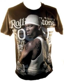 50 Cent Mens T Shirt   Rolling Stone Cover Image Clothing