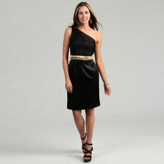 Lotus Grace Womens Black Braid embellished Dress