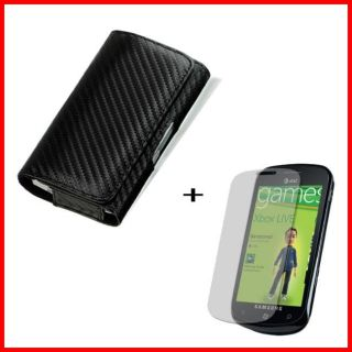 Samsung Focus i917 Carbon Fiber Style Belt Clip Case with Screen