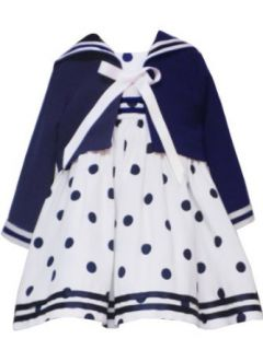 Rare Editions Sailor Dress, Ivory/White, 18 Months
