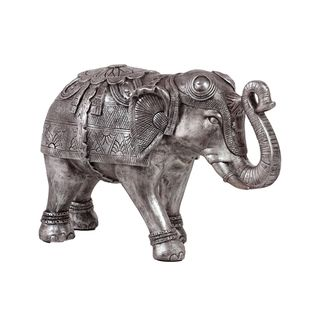 Urban Trends Collection Large Silver Resin Elephant