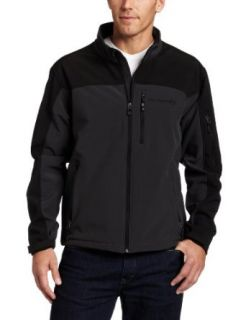 Free Country Mens Color Block Soft Shell Jacket,Lead