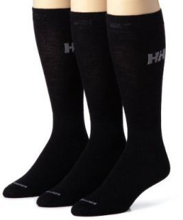 Helly Hansen 3 Pack Wool Liner Socks (Black, Medium