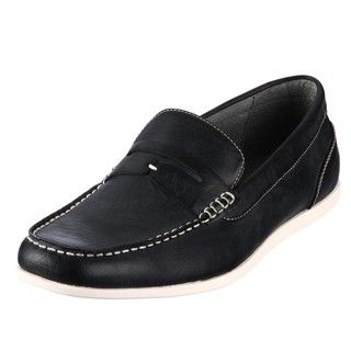 Steve Madden Mens Guest Black Penny Loafers