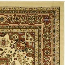 Lyndhurst Collection Ivory/ Rust Rug (8 Square)