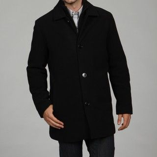 Kenneth Cole Reaction Mens Wool Blend Car Coat FINAL SALE