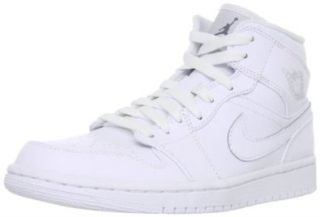Nike Air Jordan 1 Mid Mens Basketball Shoes 554724 100 Shoes