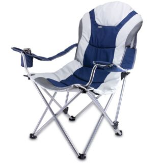 Picnic Time Navy Reclining 3 position Folding Camp Chair See Price in