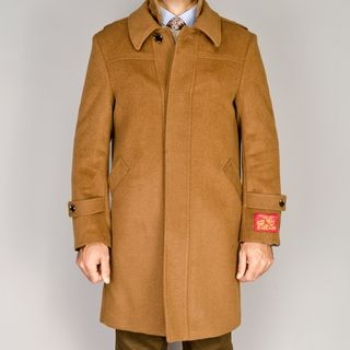 Mantoni Mens Wool/Cashmere Blend Modern Coat