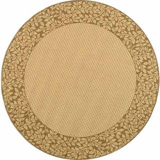 Indoor/ Outdoor Natural/ Brown Rug (67 Round)