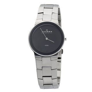 Skagen Mens Black Face Bracelet Watch