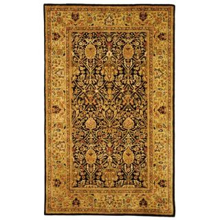 Handmade Persian Legend Blue/ Gold Wool Rug (5 x 8)