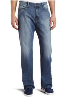Lucky Brand 181 Relaxed Straight Jeans Mid Rise Mens Blue