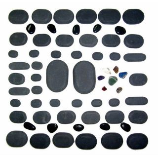 Basalt Lava 40 piece Hot Stone Massage Stones Kit