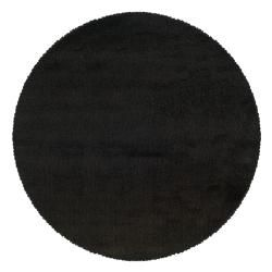 Manhattan Black Area Rug (6 Round)