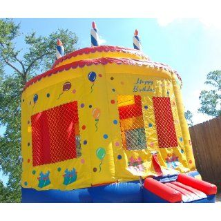 Moonwalk Birthday Cake Inflatable Bounce House Everything