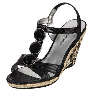 AK Anne Klein Womens Venture Black Wedges