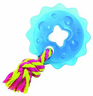 Petstages Mini ORKA Ring with Rope Blue Dog Chewing Toy