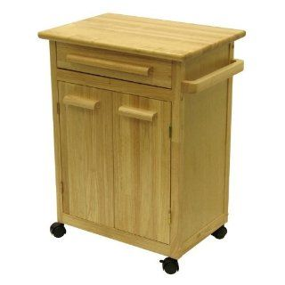Winsome Wood Single Drawer Storage Cart, Natural [Kitchen