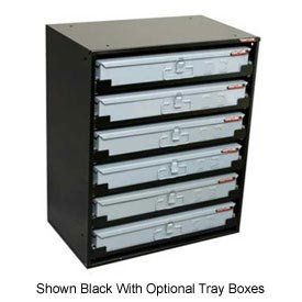 Heavy Duty Ball Bearing Slide Service Tray Rack   6 Drawer, Gray