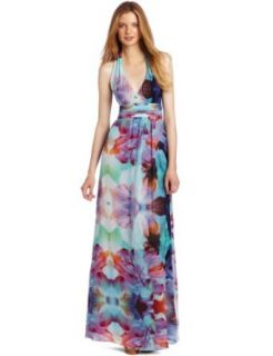 Nicole Miller Womens Halter Gown Clothing