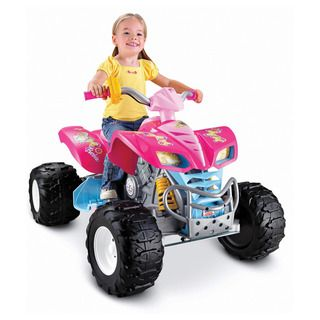 Fisher Price Power Wheels Kawasaki KFX Quad Ride On   Barbie
