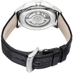 Baume & Mercier Mens Classima Silver Dial Leather Strap Watch