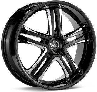 18x7.5 Enkei AKP (Black w/ Chrome Trim) Wheels/Rims 5x114.3 (452 875