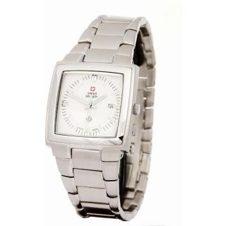 Swiss Military Mens Big Ben Stainless Steel White Dial Watch