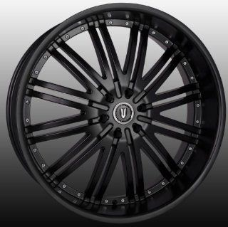 Versante VE212 24x9.5 Dodge Chrysler 300C Wheels Rims Black 4pc