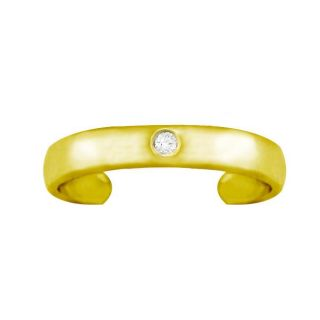 10k Gold Diamond Accent Toe Ring