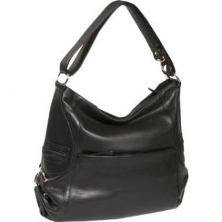 Derek Alexander Leather Large Soft Bodied Top Zip Hobo