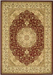 Safavieh Lyndhurst Collection LNH222B Red and Ivory Round