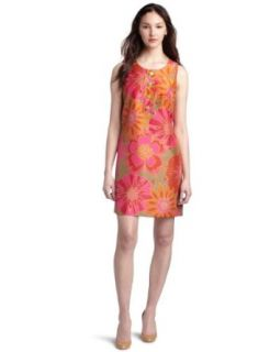 Jessica Howard Womens Printed Shantung Dress,Multi,6