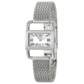 Coach Bridle Womens Silver Dial Stainless Steel Watch