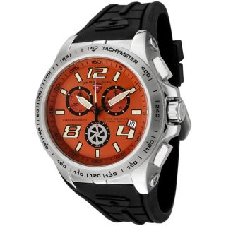 Swiss Legend Mens Sprint Racer Black Silicone Chronograph Watch