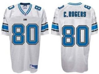 Charles Rogers Detroit Lions #80 Authentic Reebok NFL