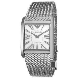 Emporio Armani Womens AR2015 Slim Mother of Pearl Dial Mesh Bracelet