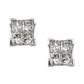 14k White Gold 1/3ct TDW Diamond Composite Earrings (H, I1