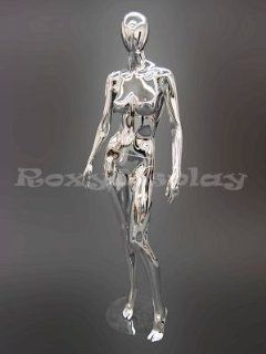 MD CY2 Egg Head Female Mannequin Chrome Arts, Crafts