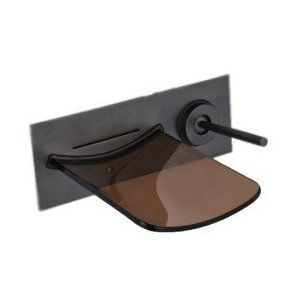 Oil Rubbed Bronze Waterfall Bathroom Sink Faucet (Wall Mount)