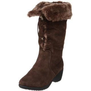 Khombu Womens Bellini Faux Fur Boot,Dark Brown,7.5 M US Shoes