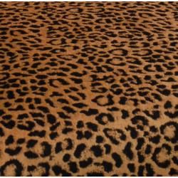 Elliot Leopard Print Black Arm Chair