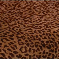 Elliot Leopard Print Cherry Arm Chair