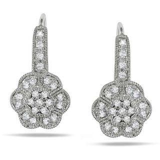 14k White Gold 1/3ct TDW Diamond Flower Earrings (G H, SI1 SI2