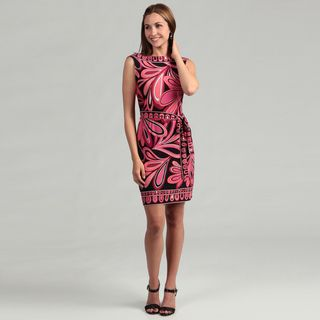 Sandra Darren Womens ITY Printed Sleeveless Dress FINAL SALE